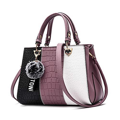 Sipobuy Bolso De Mano Para Mujer Con Ondas Bolso De Mensajero Elegante Para Mujer (Purple)