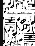 Quaderno di Musica: 12 Pentagrammi - Formato Grande -108 Pagine