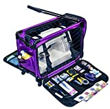 xl sewing machine trolley - Tutto Machine On Wheels Case- Large  Purple 21