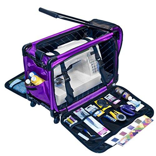 """Tutto Machine On Wheels Case- Large  Purple 21""""L x 14""""H x 12""""D"""