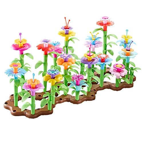 104 PCS Flower Building Block Toy Garden Building Block Toy (15x3.3x11 Inch / 5.91x1.30x4.33in)