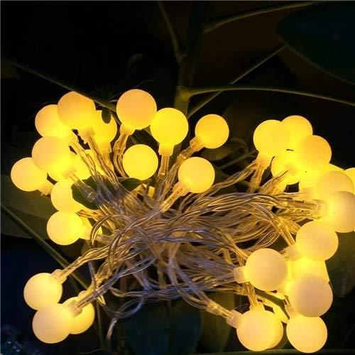 UK Plug Yellow 100 Ball Multicolor Led String Lights Indoor 10m Rope Christmas Garlands Holiday Light Wedding Lantern Lighting 110v 220v
