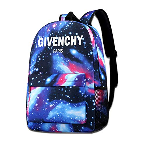 XNTWJMV Givenchy - Zaino con stampa galassia, stile casual, con stelle, per ragazzi e ragazze