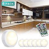 Elfeland Lampe de Placard 6 Pack Veilleuse Spot LED Murale Blanc Chaud 4000k Lampes de Lecture...