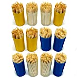 1200pk Wooden Cocktail Sticks | 12 x 100pk Wooden Toothpicks | Tooth Picks for Home and Commercial Use by Keep It Handy
