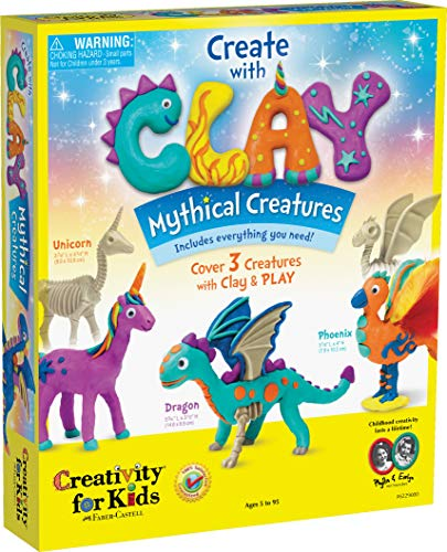 Image of the Creativity for Kids Create with Clay Mythical Creatures – Sensory Arts & Crafts for Kids