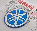 100% Original 30mm Diámetro Yamaha Diapasón Pegatina Emblema Logo Azul Relieve Cúpula Gel Resina Autoadhesivo Moto / Jet Ski / Atv / Nieve