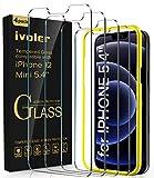 iVoler 4 Pack Pellicola Vetro Temperato Compatibile con iPhone 12 Mini (5.4 Pollici), Strumento di Installazione Incluso, Pellicola Protettiva Protezione Schermo Anti Graffio, Durezza 9H, Senza Bolle