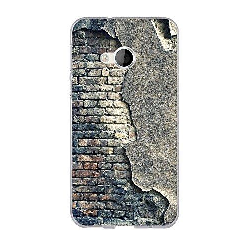 FUBAODA für HTC U Play Hülle, Hochwertiger Ultra Dünn TPU Silikon Bumper, Kunst Design Zeichnung[Alte Mauer], Kratzfest Langlebig, Stoßfest, Dauerhafter Schutz Handyhülle für HTC U Play (5.2