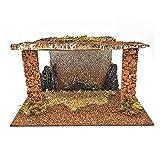 Oliver Art - Cueva rústica 15 x 26,8 x 15 cm, Corcho y Resina, Portal, Pesebre para Figuras Decorativas de belén navideño, decoración de Navidad Tradicional