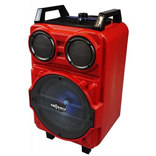 ALTAVOZ TROLLEY KARAOKE MICROFONO BLUETOOTH SD USB AUX 15W COLORES BATERIA LITIO CALIDAD