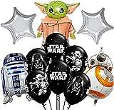 17 globos de helio de Star Wars Miotlsy-decoración de fiesta de cumpleaños con temática de Star Wars para niños para Regalos de niños Suministros decoración