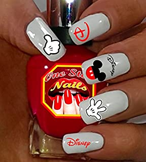 Mickey Mouse V2 waterslide nail art decals. Set of 62 by One Stop Nails.