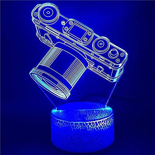 OUUED Reloj despertador La cámara Luz nocturna LED Lámpara de enchufe brillante Escritorio Directo Bluetooth Oficina Luz nocturna Dropshipper Niños Noche Navidad Cumpleaños Día de San Valentín Reg