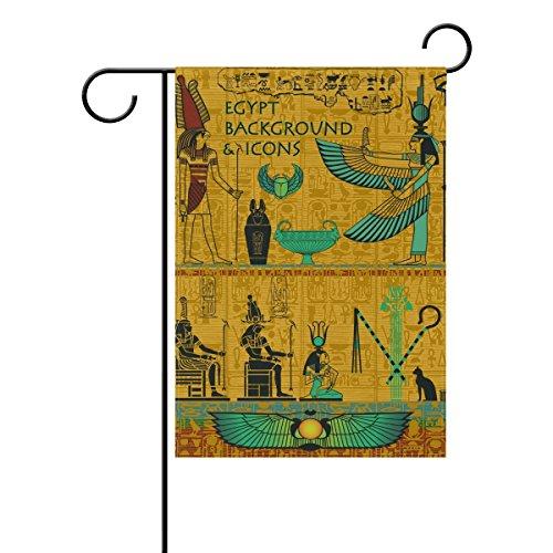 COOSUN Set van oude Egyptische Goederen Polyester Tuinvlag Outdoor Vlag Thuis Partij Tuin Decor, Dubbelzijdig, 12