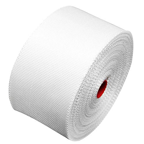 "YIKAI Fiberglass Cloth Tape, Glass Fiber Mesh Joint Tape Plain Weave Reinforcement E-Glass Size 2"" x 131' (5cm x 40m)"