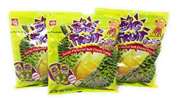 Mitmai Big Fruit Thai Durian Soft Chewy Candy  3 Bags Total of 15.9oz