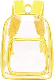 KCPer Large Clear Backpack Transparent Multi-Pockets Backpacks/Outdoor Backpack Travel Rucksack