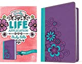 Tyndale NLT Girls Life Application Study Bible, TuTone (LeatherLike, Purple/Teal), NLT Bible with Over 800 Notes and Features, Foundations for Your Faith Sections