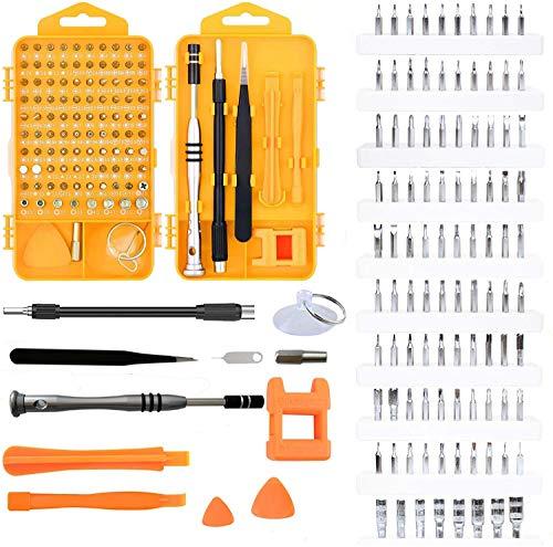 110 en 1 JUEGO DE DESTORNILLADORES DE PRECISIÓN MAGNÉTICO CON MAGNETIZADOR, kit de herramientas de reparación para móvil, iphone, tablet, reloj, ordenador PC, consolas, gafas