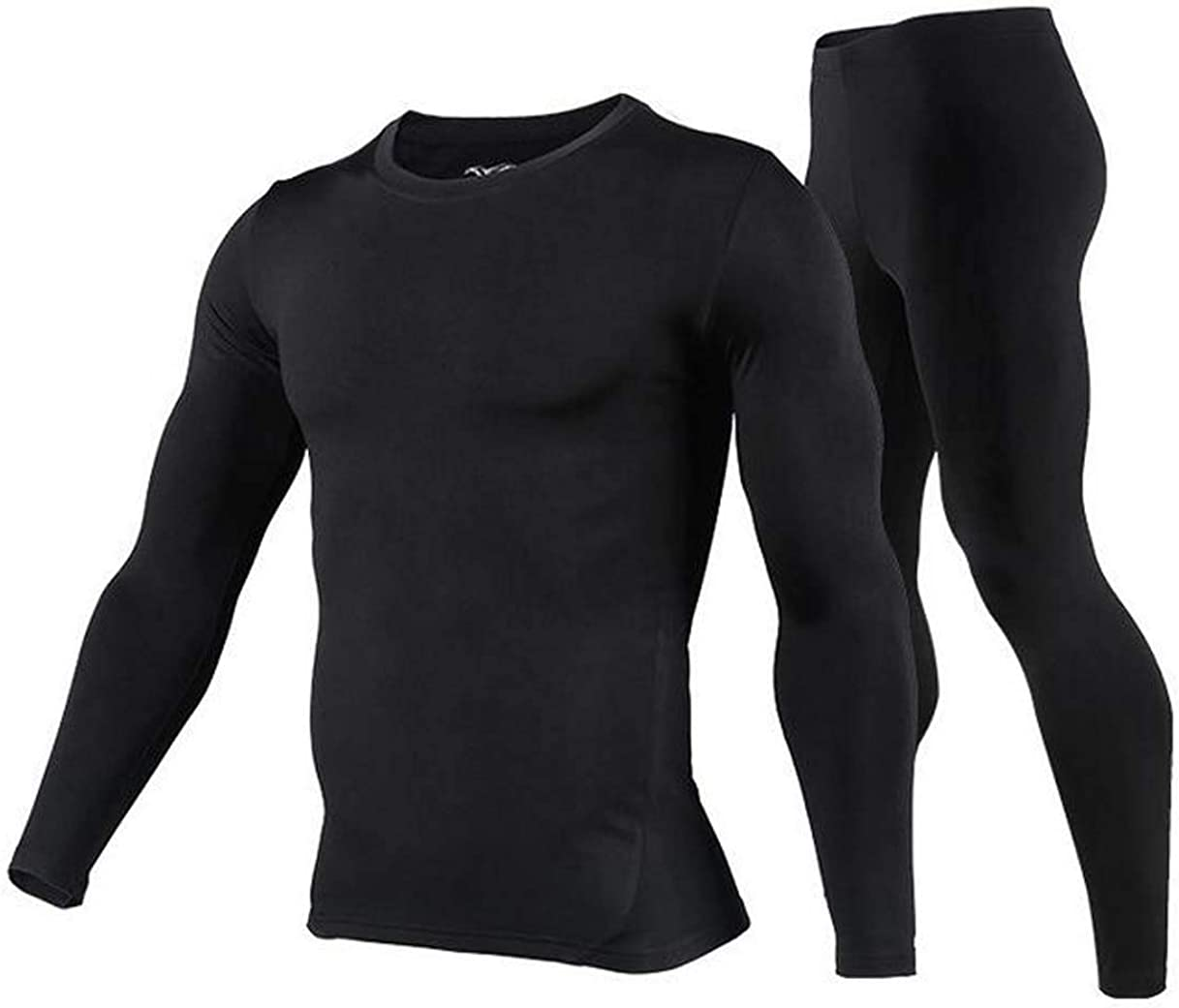 Mens Thermal Underwear Set - Cold Weather Thermal Long Johns & Winter Skiing Warm Top and Bottom Set