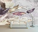 papel pintado 3D personalizado Plumas Muros De Hormigón De Color dormitorio cocina 3D empapelar Fotomural Decoración damasco murales decoración de paredes moderna