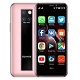 Mini Smartphone 3.5 Pulgadas HD Pantalla 4G Dual SIM Teléfono Móvil Android OS 9.0 Quad-core GPS Desbloqueado Teléfono Celular 3GB+64GB(Rosado)