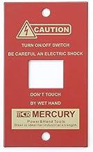 キーストーン デザイン小物 レッド マーキュリー スイッチプレート 1ヶ口 MESWPL1R