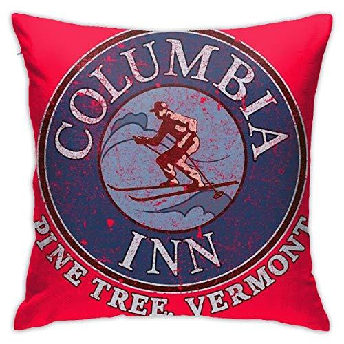 FETEAM Columbia Inn, Pine Tree Vermont Square (45 cm x 45 cm) Almohada Hogar Cama Habitación Decoración Interior