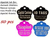 Laser Etched Bulk Lot Pet ID Tag for Dog & Cat Shelters, Rescues, Non Profits Org. and Special Events (Lot of 50)