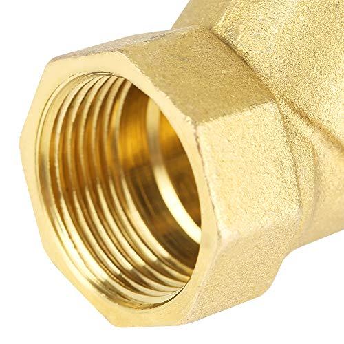 Buen sellado Conector de válvula de filtro de latón, Adaptador de accesorios de tubería 3/4'BSPP para regular el gas natural para el control de fluidos para el control de oxígeno