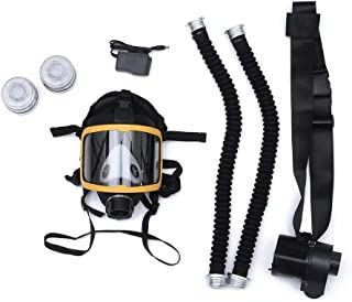 JUM99 Electric Supplied Air Fed Full Face Gas Mask Constant Flow Respirator System Device in Gas masks