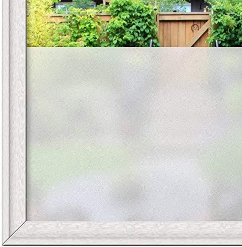 LMKJ Película de Ventana esmerilada Mate Blanca estática no Adhesiva Ventana de privacidad Adhesivo de Vinilo Control de Calor Etiqueta de Vidrio UV A54 40x100cm
