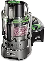Hamilton Beach Professional Stack & Snap Food Processor for Slicing, Shredding and Kneading, Extra-Wide Feed Chute, 14 Cups Dicing, Stainless Steel