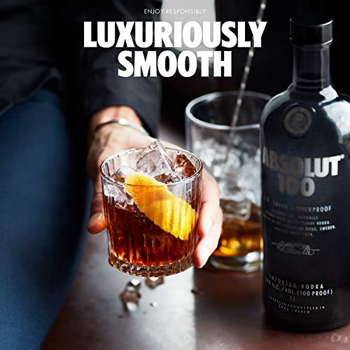 Absolut 100 / 50% Vol. Edel Wodka in eleganter schwarzer Flasche / Luxuriöses Geschmackserlebnis / 1 x 1 L - 7