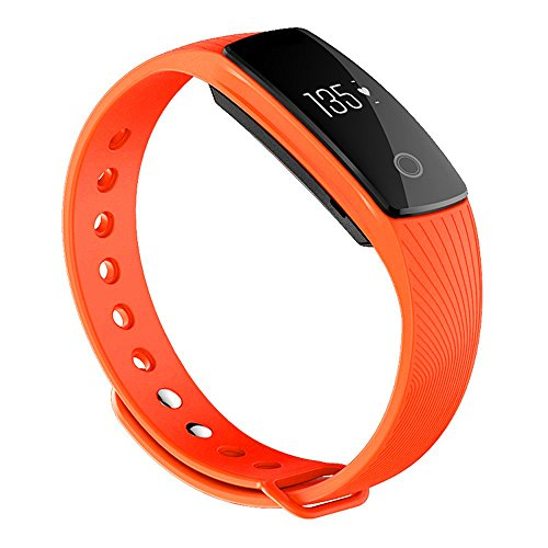 ZOMTOP Intelligente Banda ID107 Bluetooth 4.0 Smart Bracciale Heart Rate Monitor Wristband Fitness Tracker per Android iOS Smartphone