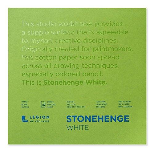 Stonehenge Stonehang-Papier, 20,3 x 20,3 cm, Weiß, 40,8 kg, 20,3 x 20,3 cm