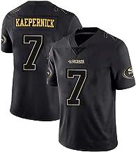 YHIU Herren Trikots -#7 Colin Kaepernick San Francisco 49er American Football Sweatshirt Swingman Edition Unisex Ärmellose...