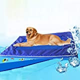Tuzi Qiuge Haustierbedarf, Selbstkühlung Pet Hundekissen, hilft Ihrem Hund Halten Sie im Sommer kühl und verhindert EIN Überhitzen und Dehydration-Ideal for zu Hause Reise, Größe: 28 * 44 * 4cm
