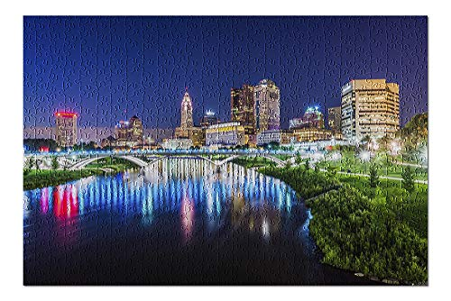 Lantern Press Columbus, Ohio, Columbus Skyline at Night, Photograph A-92064 92064 (Premium 500 Piece Jigsaw Puzzle for Adults, 13x19, Made in USA!)