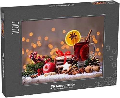 Puzzle 1000 Teile Weihnachtsglühwein mit Orangen und Gewürzen - Klassische Puzzle, 1000 / 200 / 2000 Teile, edle Motiv-Schachtel, Fotopuzzle-Kollektion \'Weihnachten\'