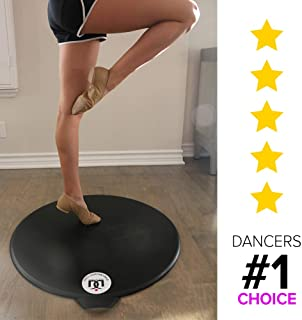 Portable Dance Floor with Pro Marley Material, Dancer Levels on Tap, Jazz and Ballet. Safe to use on All Kinds of Floors at The House. Best Turning Board for Dancers on The Go!