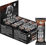 Barra de proteína vegana 3K – Barrita proteica con sabor chocolate doble – Pack de 12 x 65 g – 28% de proteínas vegetales – Sin soja ni gluten – Sólo 1 g de azúcar por porción – de nu3