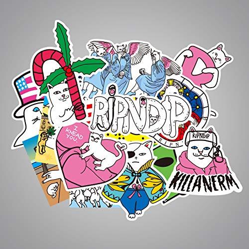 Middelgrote kat koffer sticker cartoon waterdichte graffitikoffer sticker notebook sticker 50 vellen