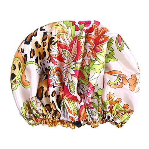 OSALADI Bonnet de Nuit Chapeau de Sommeil Bonnet de Cheveux Bonnet de Sommeil en Satin Bonnet de Perte de Cheveux Bonnet de Chimio Bonnet de Salon pour Filles Salon Sommeil Spa