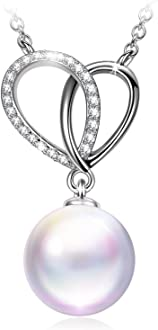 Susan Y cadeau de noel femme collier perle argent sterling 925 cadeau femme cadeau original bijoux femme swarovski idee cadeau femme collier femme cadeau maman cadeau bijoux bijoux femme