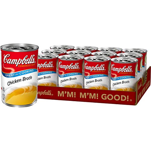 Campbell's Condensed Chicken Broth, 10.5 oz. Can (Pack of 12)