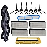 TOOGOO Kits de Remplacement de Filtres pour Filtre Ilife A4 A6 A4S A8 A40 Hepa, Filtre Primaire et Cache-Pinceau