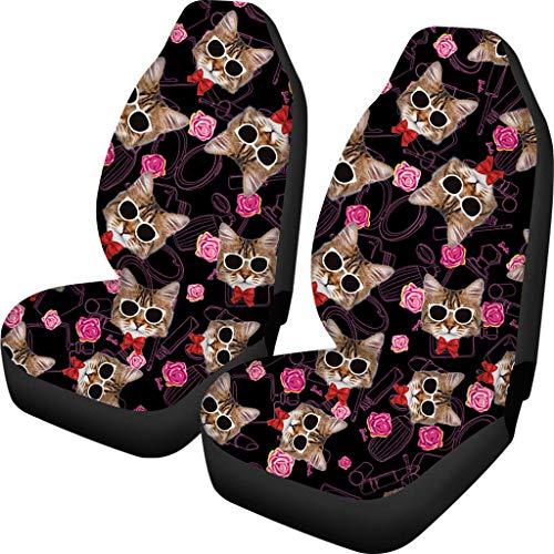 Agroupdream autostoelhoezen, set van 2, beschermhoes voor autostoelen, kussensloop met haak cat 2