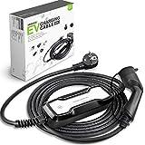 Morec EV Chargeur Norme européenne Type 2 Portable commutable câble 10/16 A Schuko...
